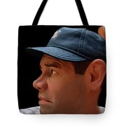 Wood Carving - Babe Ruth 002 Profile Tote Bag