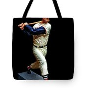 Wood Carving - Ted Williams 001 Black Background Tote Bag