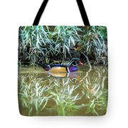 Wood Duck Reflection Tote Bag