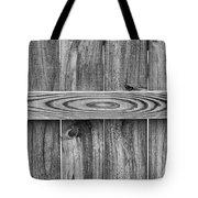 Wood Grain Black And White Tote Bag