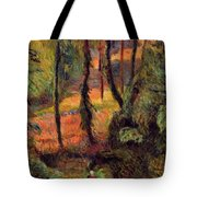 Wooded Path 1884 Tote Bag