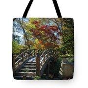 Wooden Bridge In Japanese Garden Tote Bag by Jemmy Archer