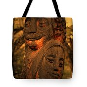 Wooden Couple Tote Bag