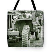 World War II Era Us Army Jeep Tote Bag