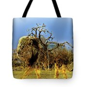 Wrapped Lion Tote Bag