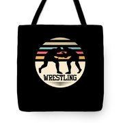 Wrestling Art Tote Bag