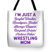 Wrestling Singlet Washin Mom Purple Gift Dark Tote Bag