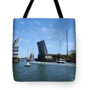 Wrightsville Beach Bridge In North Carolina Tote Bag