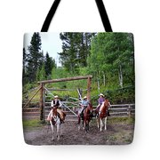 Wyoming Cowgirl Trio Tote Bag
