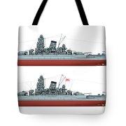 Yamato Class Battleships Port Side Tote Bag