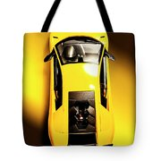 Yellow And Black Tote Bag