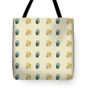Yellow And Green Present Pattern Tote Bag