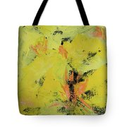 Yellow Blooms Coral Accents Tote Bag