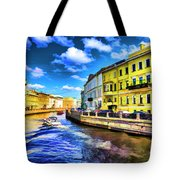 Yellow Canal Tote Bag
