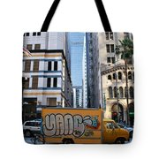 Yellow Graffiti Truck Downtown La Tote Bag