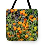 Yellow Poppies Of California Tote Bag