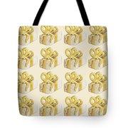Yellow Presents Pattern Tote Bag