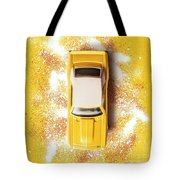 Yellow Street Machine Tote Bag