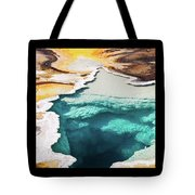 Yellowstone Hot Springs Triptych Tote Bag