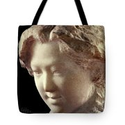 Young Girl-part-arttopan Carving-realistic Stone Sculptures-marble Tote Bag