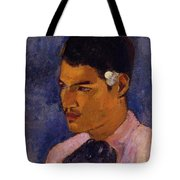 Young Man With A Flower Behind His Ear 1891 Tote Bag