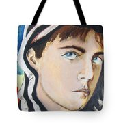 Youth And Zebra Stripes Tote Bag by Rene Capone