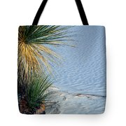 Yucca Plant In Rippled Sand Dunes In White Sands National Monument, New Mexico - Newm500 00113 Tote Bag