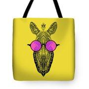 Zebra In Pink Glasses Tote Bag