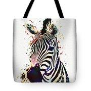 Zebra Watercolor Painting Tote Bag