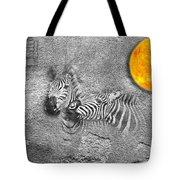 Zebras No 02 Tote Bag