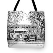 Zeta Tau Alpha Sorority House, Purdue University, West Lafayette, Indiana, Fine Art Print Tote Bag