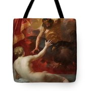 Zeus And Semele Tote Bag