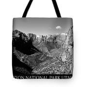 Zion Nationa Park Utah Tote Bag