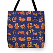 Zodiac Signs Set Tote Bag by Ariadna De Raadt