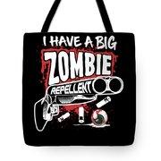Zombie Repellent Halloween Funny Gun Art Dark Tote Bag