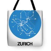 Zurich Blue Subway Map Tote Bag