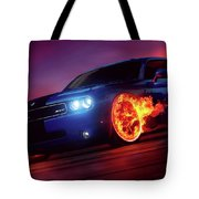 Wheels on Fire - Tote Bag Product by Matthias Zegveld