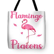 Canvas Shopping Tote Bag Sometimes I Feel like A Flamingo in Flock of Pigeons Beach for Women