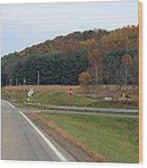 Autumn On 179 Wood Print