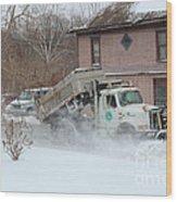 Ohio Snow Plow Wood Print