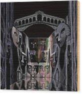 069 -  Rainy  Night In  Old Venice  ...  Wood Print