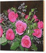 1 Dozen Roses Wood Print