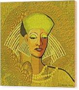 189 Metallic Woman Golden Pearls Wood Print