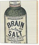 1890s Uk Brain Salt Headaches Humour Wood Print