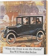 1920s Usa Overland Cars Wood Print
