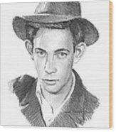 1930s Uncle Pencil Portrait Wood Print