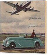 1940s Uk Aviation Hawker Siddeley Cars Wood Print