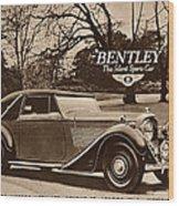 1940s Uk Bentley Sports Cars Wood Print
