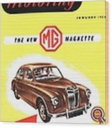 1950s Uk Cars Mg Magnette Covers Wood Print