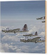 381st Group Outbound Wood Print